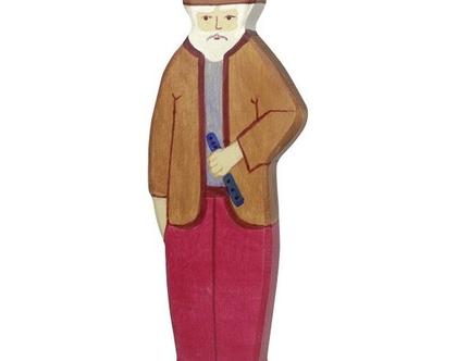 HOLZTIGER סבא עשוי מעץ מייפל ברוח וולדורף 80278