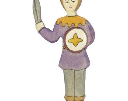 HOLZTIGER אביר עשוי מעץ מייפל ברוח וולדורף 80242