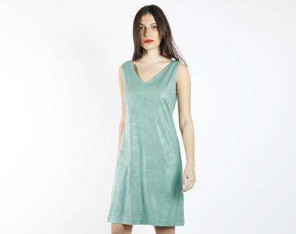 שמלת מיני טורקיז