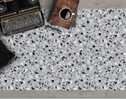 שטיח ויניל מעוצב דגם Grey terrazzo