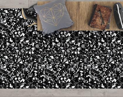 שטיח ויניל מעוצב דגם Black terrazzo