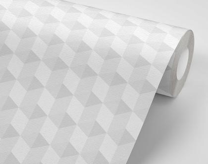 טפט מבוסס בד להדבקה קלה דגם Cube 3D