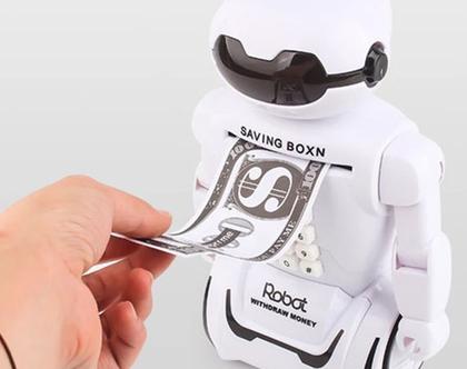 קופת חיסכון רובוט עם נעילת קוד