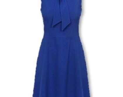 שמלה בצבע כחול רויאל ללא שרוולים (מיי)