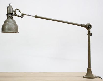 מנורת שולחן וינטאג׳ טלסקופית צרפתית תעשייתית