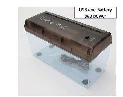 מגרסת נייר שולחנית חשמלית לגריסת נייר בכל מקום ובכל זמן .