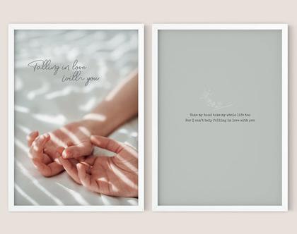 זוג הדפסים מעוצבים - In love