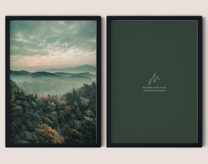 זוג הדפסים מעוצבים - Mountains