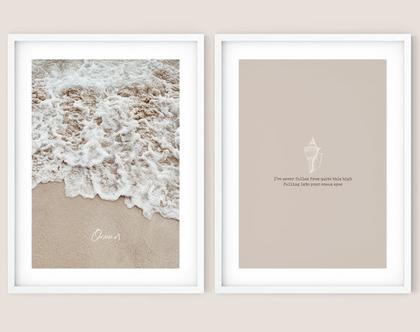 זוג הדפסים מעוצבים - Ocean