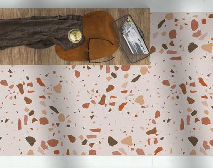 שטיח ויניל מעוצב דגם Nude terrazzo