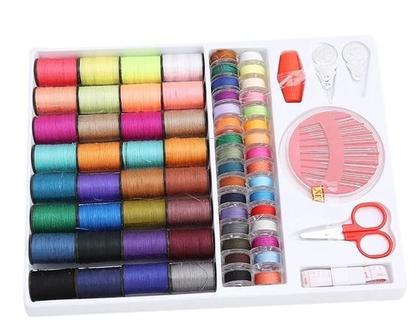 ערכת כלי תפירה וחוטים צבעוניים