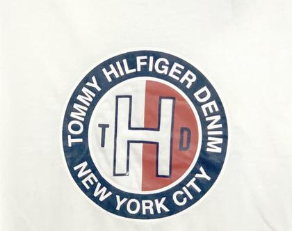 Tommy Hilfiger | חולצת לוגו לבנה טומי הילפיגר