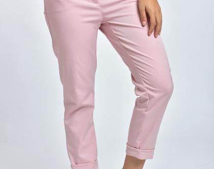 מכנסיי סקיני ורודים, מכנסיים גזרת סקיני, מכנסיים בצבע ורוד, מכנסיים בגזרה גבוהה - לין ורוד