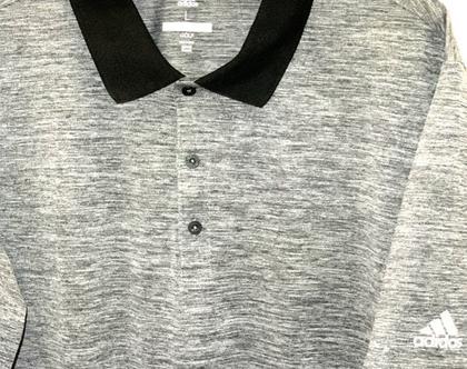 Adidas | חולצת פולו אפורה אדידס