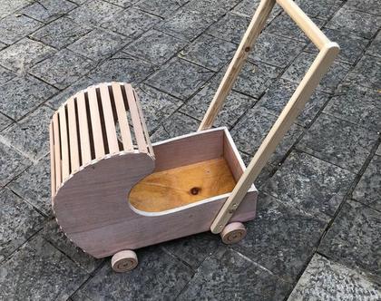 עגלה לבובה מעץ של חברת בובימה