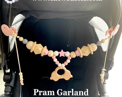 שרשרת לעגלה / מובייל לעגלה / צעצוע לעגלת תינוק / Pram garland