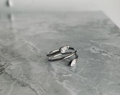 טבעת ספירלה  טבעת נחש  טבעת משובצת  טבעת כסף 925  טבעת מלופפת  טבעת כסף סטרלינג