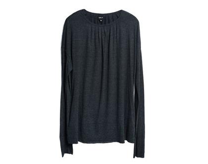 טוניקה עם קפלונים במחשוף, חולצה אפורה, חולצה יפה, טוניקה אפורה, חולצה בצבע בז׳