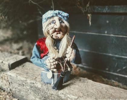 בובה/ באבא יאגה/ בובת גרב מכשפה/ בובה מכשפה זקנה
