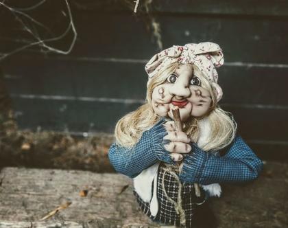 בובה/ בובה גדולה/ באבא יאגה/ בובת גרב מכשפה/ בובה מכשפה זקנה