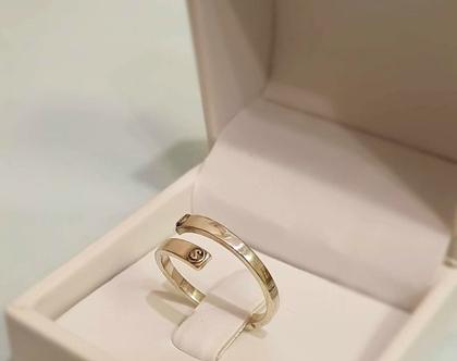 טבעת כסף עם שמות |טבעת חריטה | טבעת כסף בהתאמה אישית | טבעת כסף 925 sterling Silver