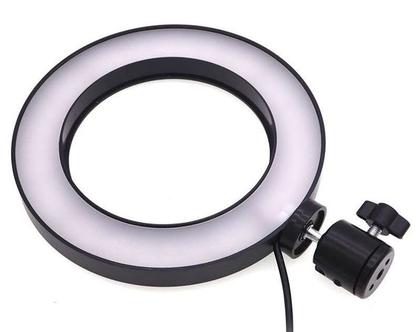 """מנורת איפור טבעת פנס תאורת לד בקוטר 16 ס""""מ"""