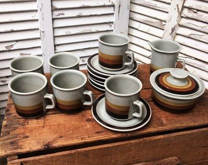 סט קפה לפיד, סט ספלים וינטאג', לפיד, קרמיקה לפיד, אספנות, עתיקות