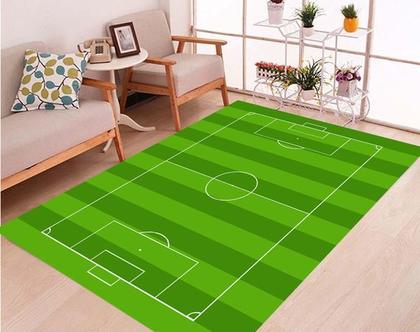 שטיח ויניל דגם כדורגל | שטיח pvc רך | שטיח לחדרי ילדים ענק 1.2X1 מטר