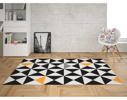 שטיח לינולאום מעוצב Polygon | שטיח פי.וי.סי PVC | שטיח לבית | שטיח למטבח שטיח לחדר