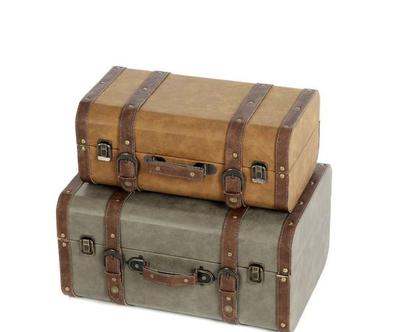 מזוודה מקסימה בצבע ירוק זית לנוי וגם לאיחסון בסגנון וינטאז׳