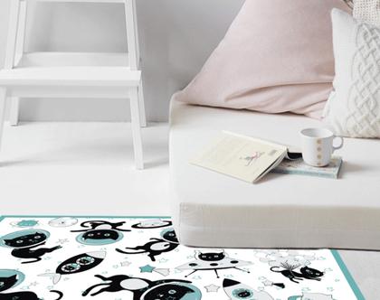 שטיח ויניל | שטיח pvc | שטיח לחדר ילדים | מתנה לאוהבי חתולים | שטיח פי.וי.סי | שטיח למטבח | שטיח לינולאום | שטיח pvc לחדר