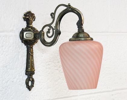 מנורת קיר וינטאג׳ ורודה, מנורת נחושת