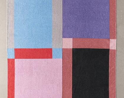 שטיח כותנה אבסטרקטי צבעוני, שטיח כותנה צבעוני