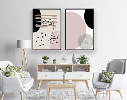 סט תמונות בעיצוב מינימליסטי | תמונות בעיצוב מקורי| תמונות בעיצוב נורדי | תמונות מיוחדות לסלון | תמונות אבסטרקטיות