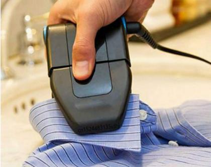 מיני מגהץ לגיהוץ חולצות מכופתרות וקפלים שקשה לגהץ