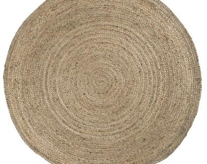 שטיח עגול טבעי