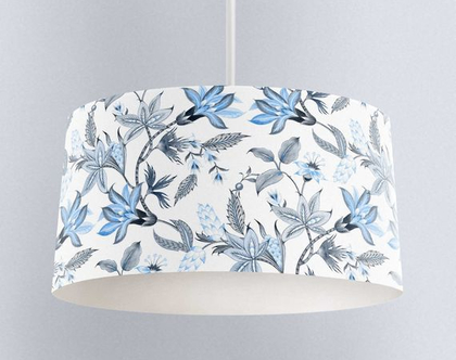 אהיל בוטני כחול לבן | תאורה לבית | תאורה מעוצבת | אהיל מעוצב