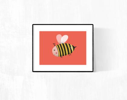 גלויה מאוירת - לעיצוב הבית - 'honey is magic'