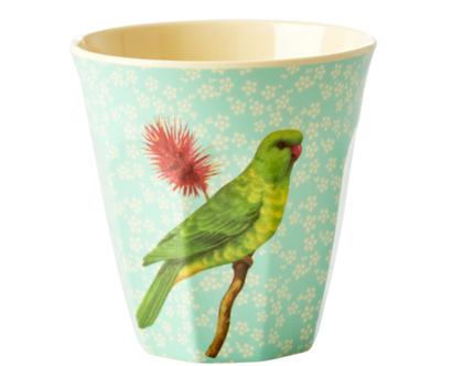 כוס מלמין טוטון תוכי רקע מנטה | RICE DK