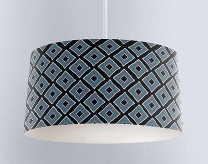 אהיל מעוין כחול | תאורה לבית | תאורה מעוצבת | אהיל מעוצב