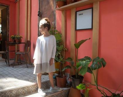 שמלת אירועים לילדות, ורד לורקס כסף