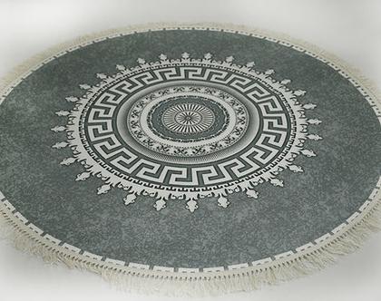 שטיח דו צדדי עגול | גדלים לבחירה | שטיח לסלון | *** השילוח חינם ***