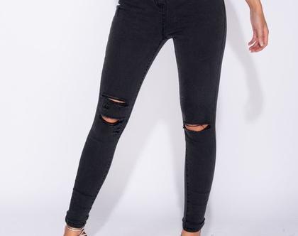 ג'ינס ויסטרין גזרה גבוהה עם קרעים