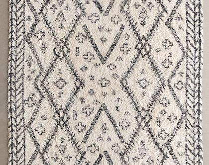 שטיח שאגי כותנה מרוקאי