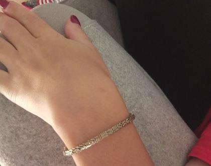 צמיד ברונזה - צמיד זהב - צמיד טניס - צמיד דק - צמיד זהב עדין