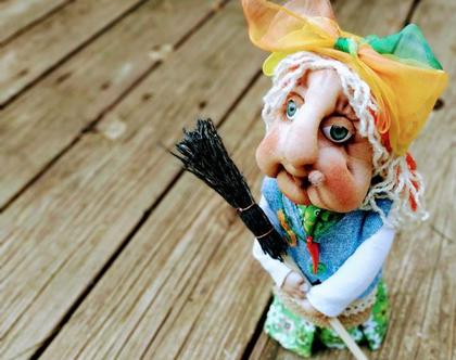 בובה/ באבא יאגה/בובת גרב מכשפה/ בובה מכשפה זקנה