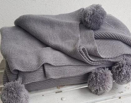 שמיכה זוגית פונפונים מפנקת | SOFI |