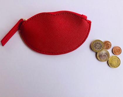 ארנק קטן מעוצב,ארנק שפתיים,ארנק נשיקה אדום,ארנק מטבעות