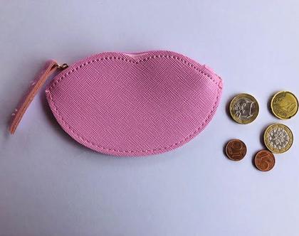 ארנק קטן מעוצב,ארנק שפתיים,ארנק נשיקה ורוד,ארנק מטבעות