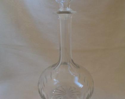 בקבוק ליקר קריסטל בקבוק זכוכית עם פקק  בקבוק ליקר  בקבוקים מיוחדים 